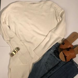 Comfy, White Loft sweater